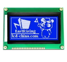 LCD Display Serial Graphic Display 128x64 ST7920,White on Blue ERM12864SBS-6